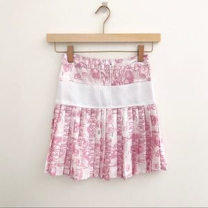 Dior   Pink Monogram Pink Dior Pleated Skirt